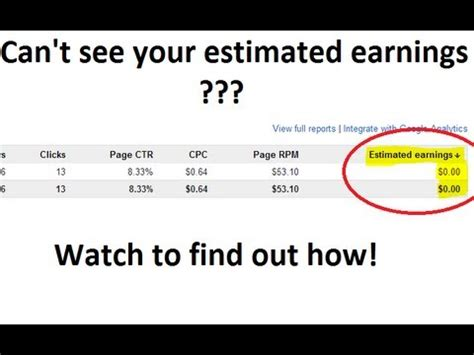 adsense revenue calculator estimated earnings not showing in adsense problem solved