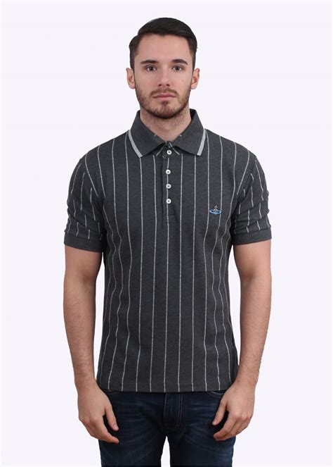 polo grey stripe shirt vivienne westwood stripe polo shirt grey