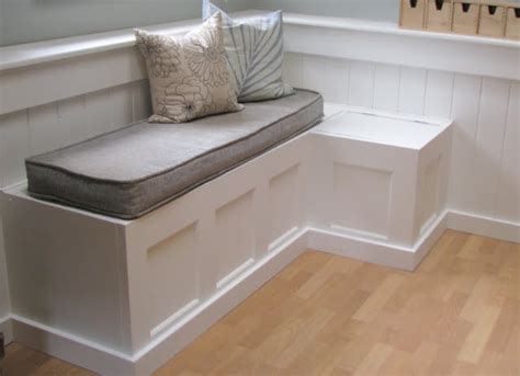 Diy Banquette Storage Bench by Blue Roof Cabin Salvaged Door Into A Dining Room Banquette