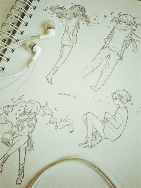 Inspect Sketches B And D by Best 25 Anime Sketch Ideas On