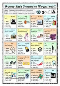 grammar meets conversation wh questions 1 getting to