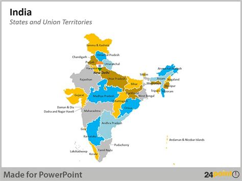 Editable India Maps To Analyze Election Results Powerpoint Design Services Presentation Editable Map Of India