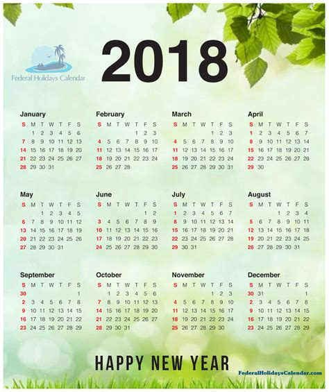 new year new notes 2018 2018 calendar printable template with holidays usa uk canada