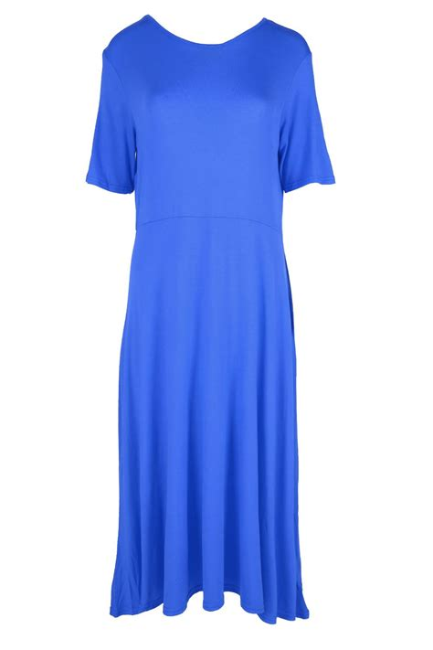 a line swing dress womens ladies a line cap sleeve swing skater dress plain