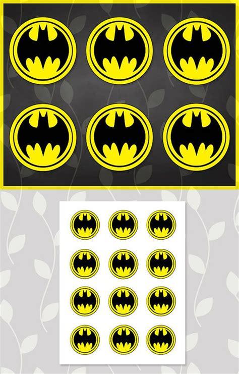 printable batman logo stickers batman cupcakes batman stickers and cupcake on pinterest