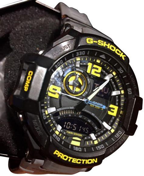 g shock grey yellow black white casio ga1000 8a aviation