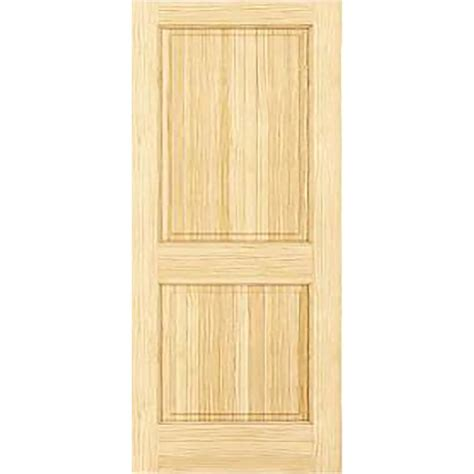 Interior Solid Wood Door Bay 30 In X 80 In Unfinished 2 Hip Panel Solid Wood Interior Door Slab