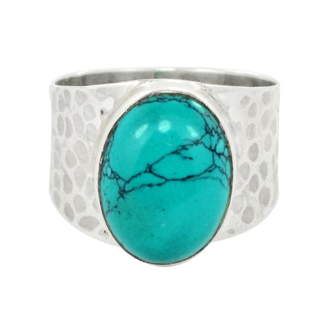 real turquoise genuine turquoise ring turquoise ring silver ring