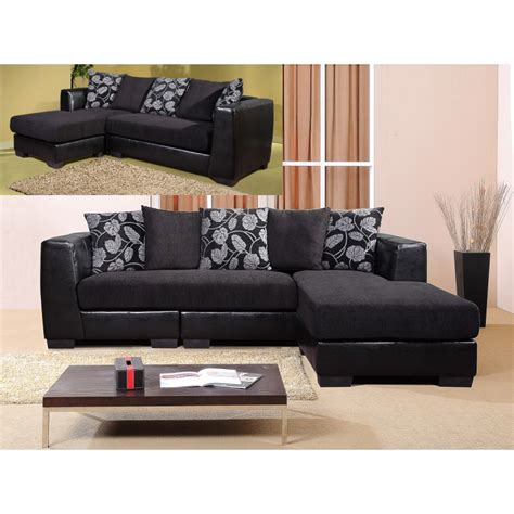 fabric and leather corner sofa rovigo black fabric corner sofa forever furnishings