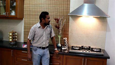 Chimney Installation In Kitchen by Modular Kitchen Indian Context Chimney Hob Sink