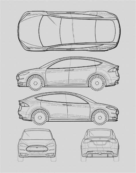 Tesla Drawings Blueprint Tesla Auto Collection Tesla Automobile