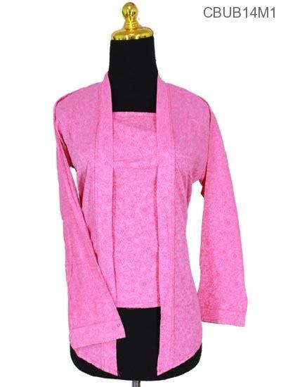 Blus Batik Embos Lengan Panjang Atasan Kebaya Renda Modern B20917036 blus kebaya kutubaru embos bunga blus lengan panjang murah batikunik