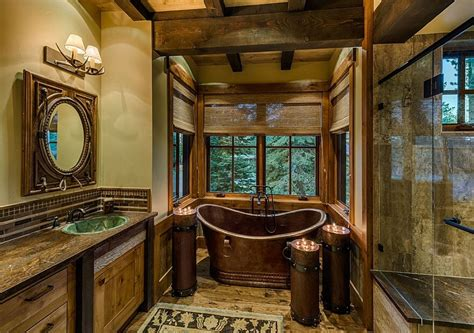 Rustic Cabin Bathroom Ideas - rustic cabin bathroom decor pictures bathroom decor