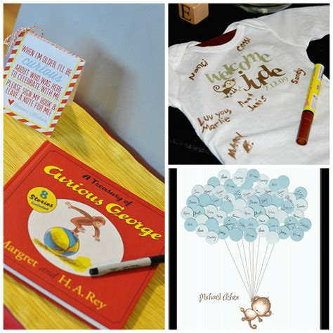 Guest Book Baby Shower Ideas by Diy Monkey Baby Shower Ideas Crafty Morning