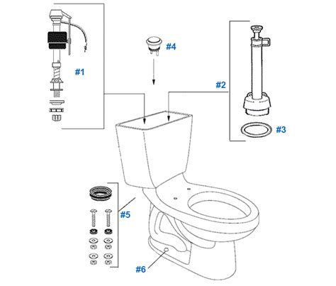 mansfield toilet diagram mansfield maverick toilet replacement parts