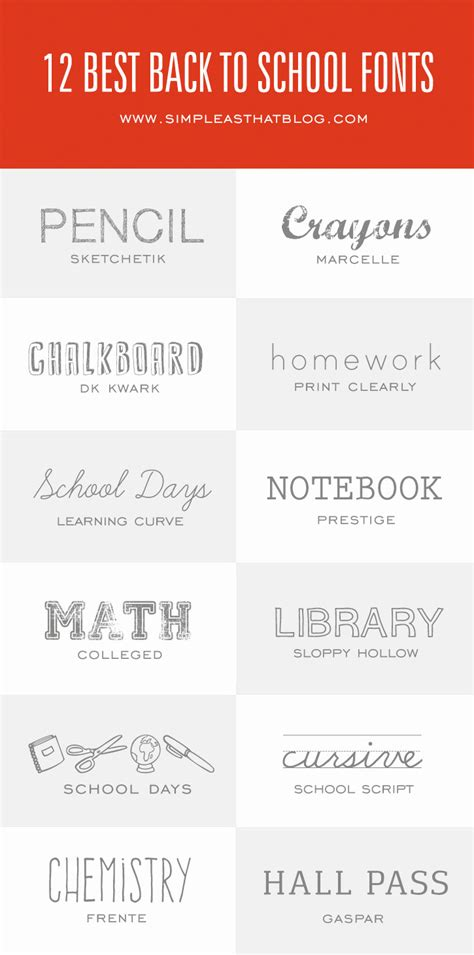 back to school lettering or 12 of the best fonts for back to school