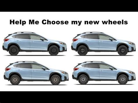 subaru crosstrek road tires 2018 crosstrek help me choose road wheels and tires