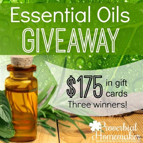 Native American Giveaway - 10 essential oils everyone should have proverbial homemaker