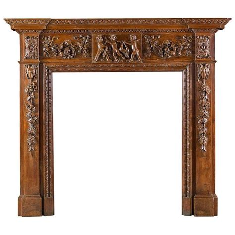 pine fireplace mantel george iii style carved pine antique fireplace mantel for
