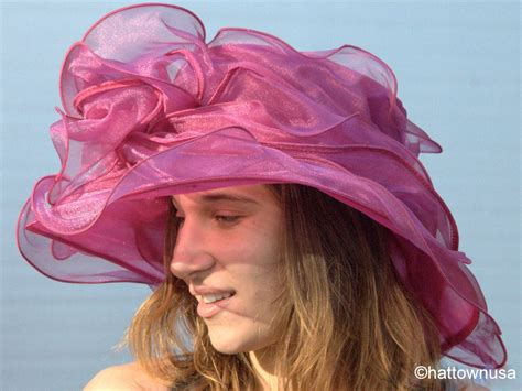 039 s kentucky derby hat new layered organza wide