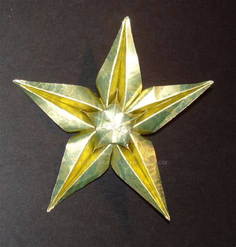 5 Point Origami - 5 point origami ornament by pandaraoke on deviantart