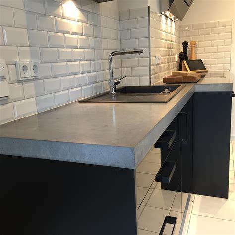 beton arbeitsplatte arbeitsplatten aus beton diy anleitung mit betonrezept