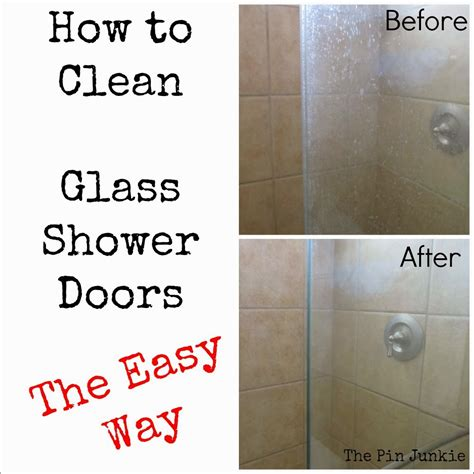 Cleaning Shower Glass Door How To Clean Glass Shower Doors The Easy Way Diy Craft Projects