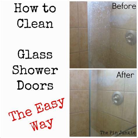 clean glass shower doors  easy  diy craft