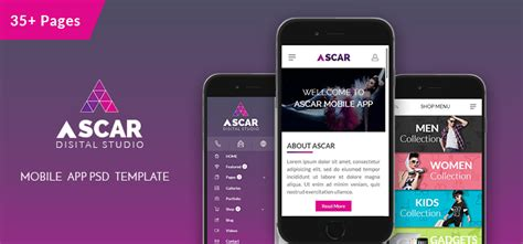 Ascar Mobile App Psd Template Mobile App Estimation Template