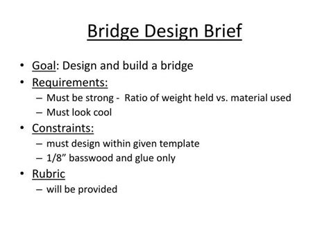 Design Brief Powerpoint Presentation | ppt bridge design brief powerpoint presentation id 5083819