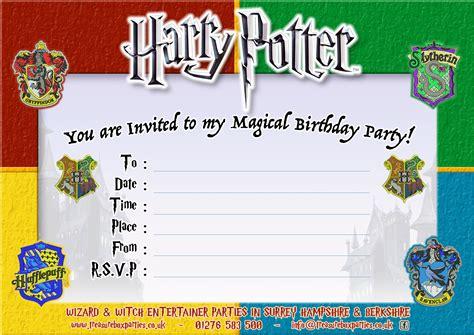 Harry Potter Birthday Party Invitations Free Printable Baby Shower Invitations Templates Harry Potter Invitation Template Free
