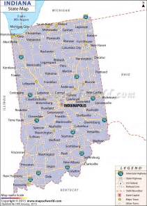 Indiana State Map by Where Is Indiana Location Of Indiana