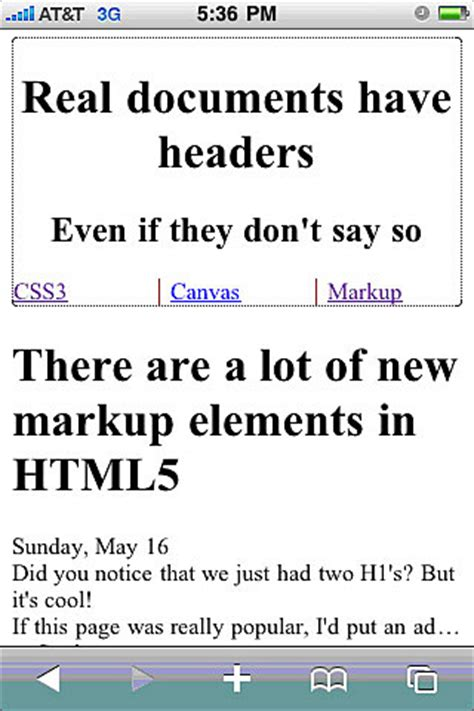 unused tour web header unused element part 5 by prakhar creating mobile web applications with html 5 part 5