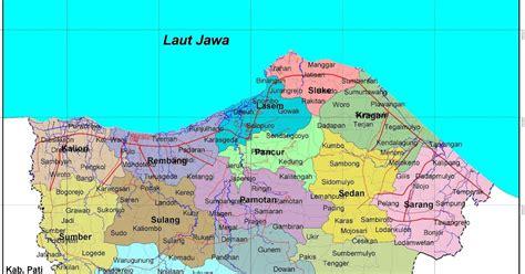 peta kota peta kabupaten rembang