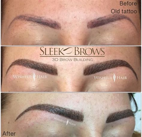 tattoo eyebrows training tattoo coverage by sleek brows eyebrow extension