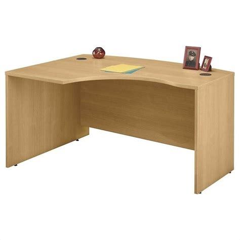 desk l light bush business series c 60x43 lh l bow desk in light oak