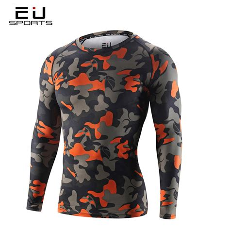 s camo compression tights running fitness shirt