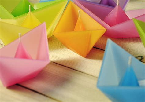 Origami Boat Candles - origami boat candles www ohmz net