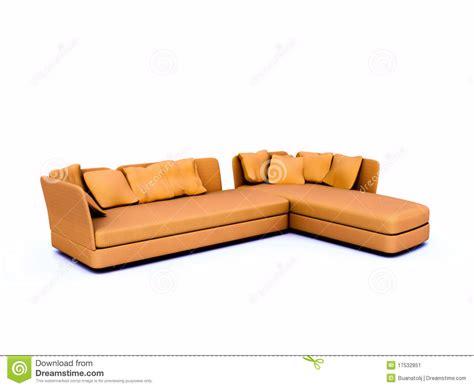 angular couch angular sofa stock image image 17532851