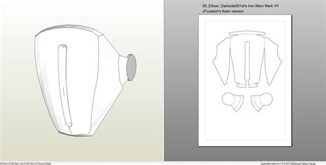 iron suit template foamcraft pdo file template for iron 7