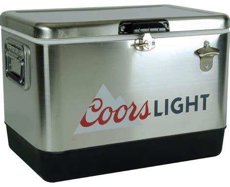 coors light chair with built in cooler coors light stainless steel chest contemporary