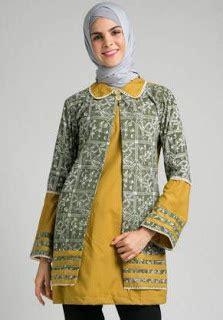 Gamis Gelora Coklat Nu 01 15 model baju batik kombinasi polos modern terbaru 2017