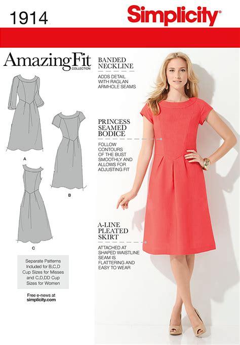 pattern review simplicity amazing fit simplicity 1914 misses plus size amazing fit dresses