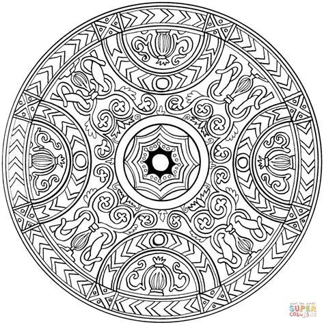 Ausmalbild: Mandala mit Ornament   Ausmalbilder kostenlos