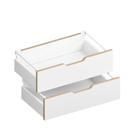 Closing Drawers by Sylvi 6 Half Soft Drawers White By Morfus