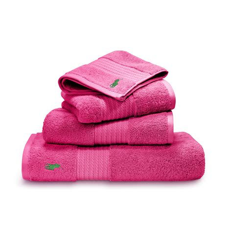 hot pink towels bathroom buy ralph lauren home player towel pink amara