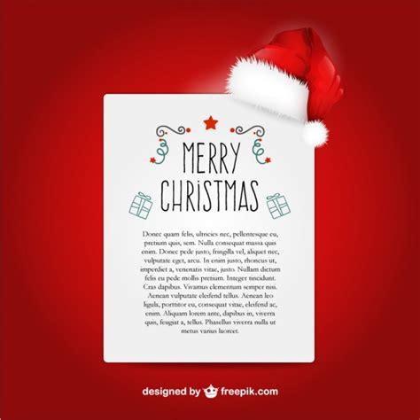 Weihnachtsbriefe Schreiben Muster Weihnachtsbrief Vorlage Mit Weihnachtsmann Hut Der Kostenlosen Vektor