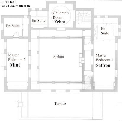 moroccan riad floor plan house plans floor plans and morocco on pinterest
