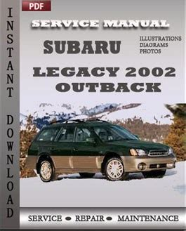 service and repair manuals 2002 subaru outback sport electronic toll collection subaru legacy outback 2002 factory manual download repair service manual pdf