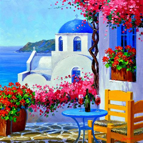 paint with a twist greece mikki senkarik quot in santorini quot mikki senkarik